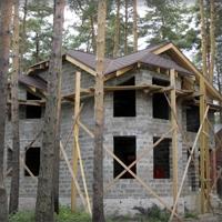 Дом из арболита без отделки