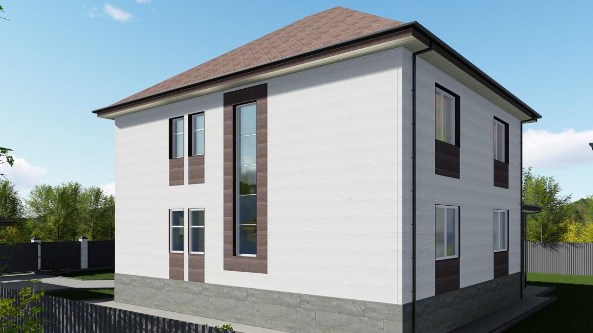 Дом из арболитовых блоков К-294 Валенсия
