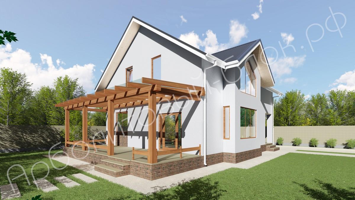 Проект арболитового дома К-195, Мальборк