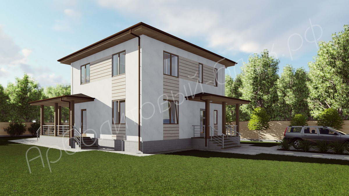 Дом из арболита К-158, Проект Ллойд