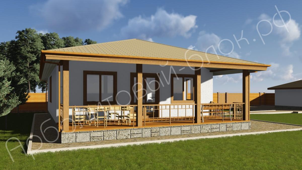 Проект дома из арболита К-122 Барсуки