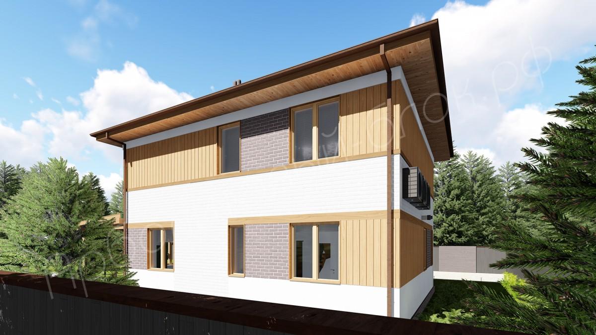 Дом из арболита К-150, Проект Оптима
