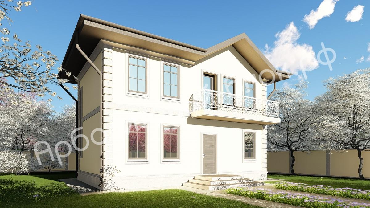 Дом из арболита К-101, Проект Щельпино