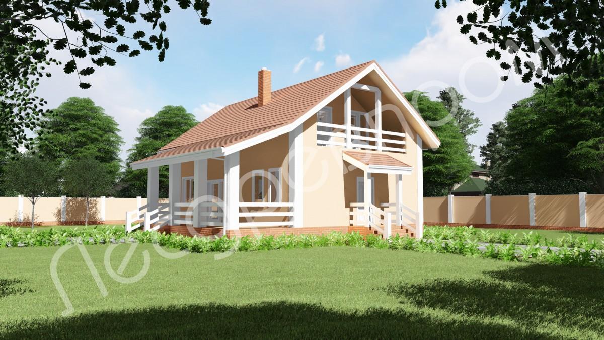 Проект дома с банным комплексом - К-185