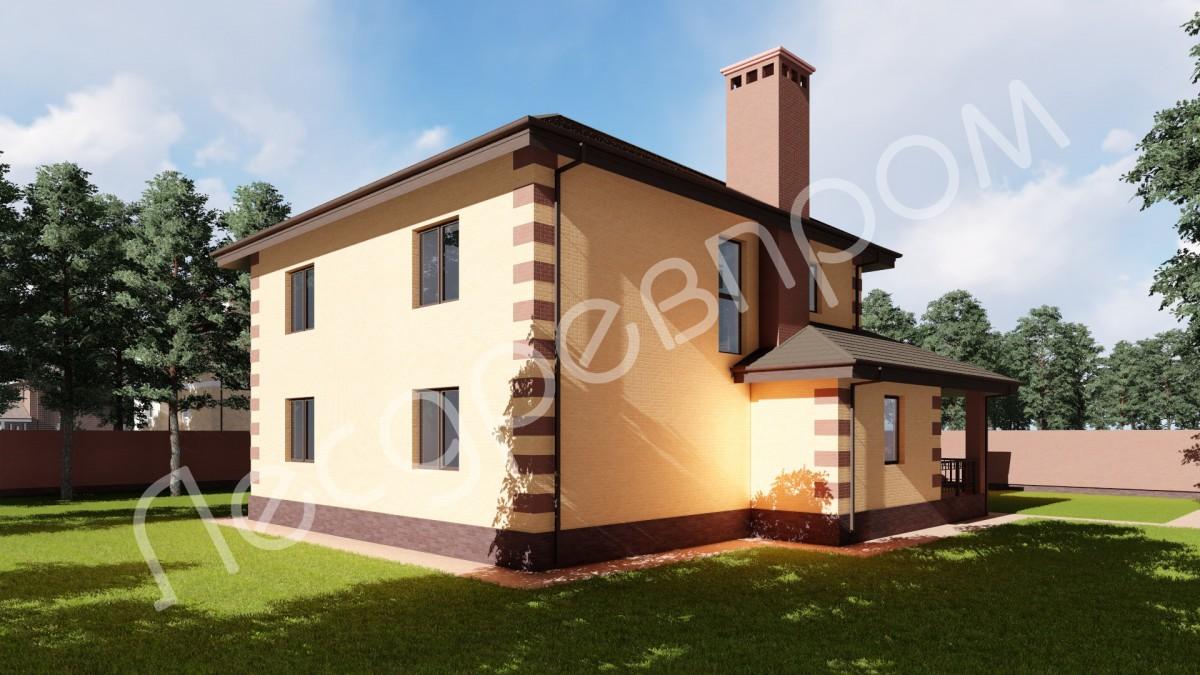 Дом из арболита К-240 проект Крекшино
