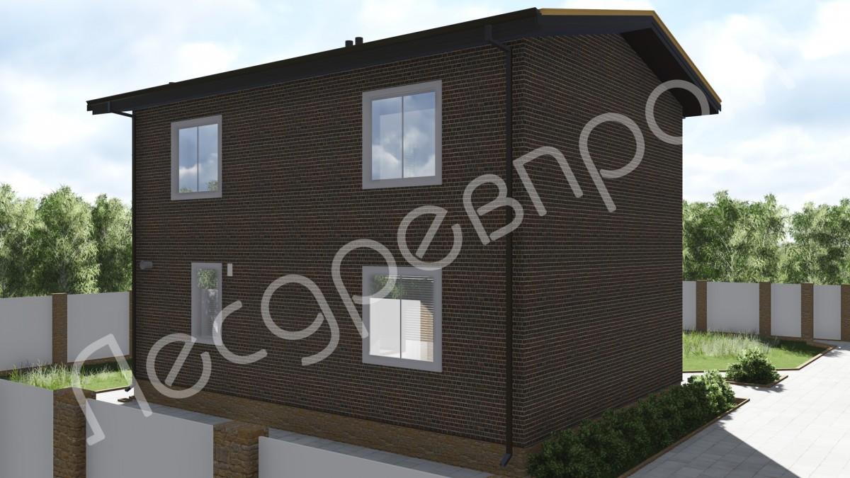 Дом из арболита К-107, Проект Гудено-2