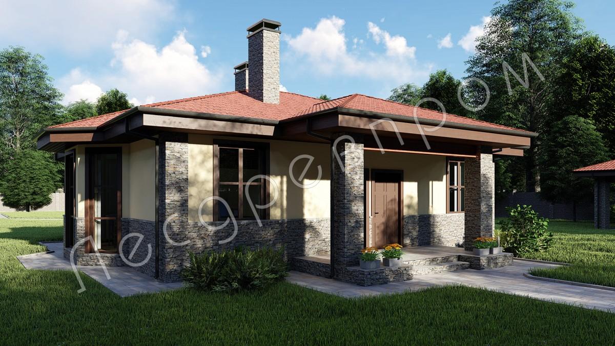Дом из арболитовых блоков К-116, Проект Емельяново